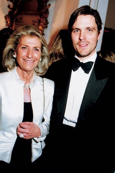Mrs Giovanna Gentile Ferragamo and James Ferragamo