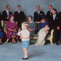 The Royal Family portrait following Prince Harry's christening, 1984