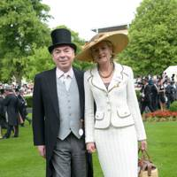 Lord and Lady Lloyd-Webber, Royal Ascot, 2013