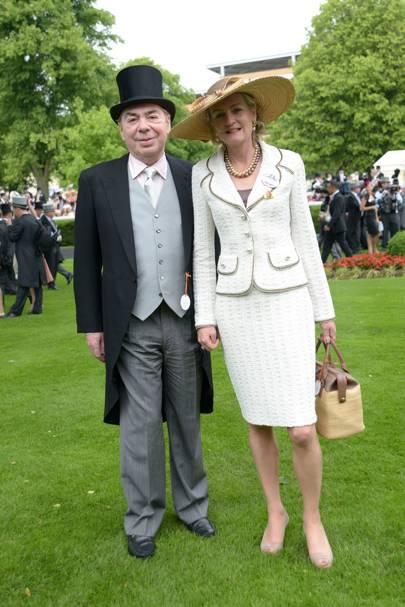 Lord and Lady Lloyd-Webber, Royal Ascot, 2013