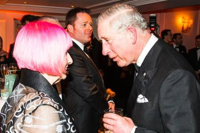 Zandra Rhodes and the Prince of Wales