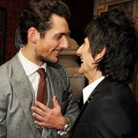 David Gandy and Ronnie Wood