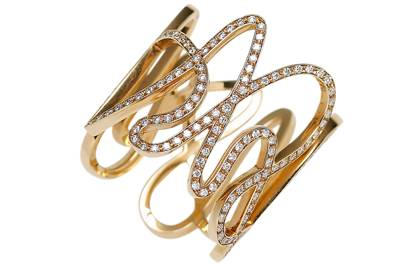 Pink-gold & diamond ring, £8,160, by Repossi, at Dover Street Market