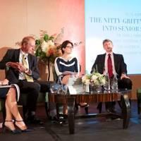 Mary Nightingale, Niall Hamilton, Samantha Price, Andrew Halls and Vivienne Durham