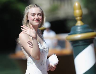 Dakota Fanning arrives at the festival