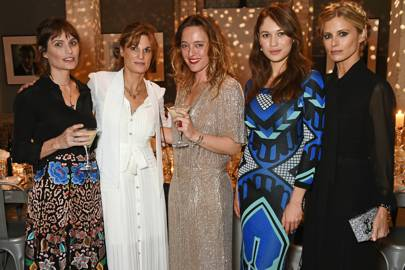 Sheherazade Goldsmith, Jemima Goldsmith, Alice Temperley, Olga Kurylenko and Laura Bailey