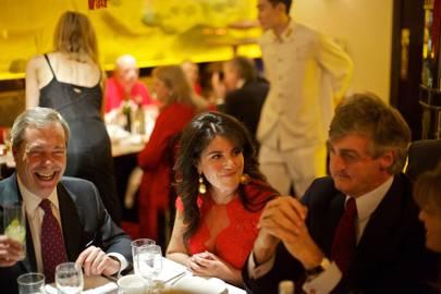 Nigel Farage, Monica Lewinsky and Robin Birley