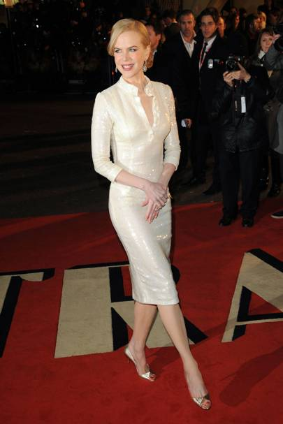 Wearing L'Wren Scott at the 'Australia' premiere, 2008