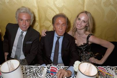 Giancarlo Giammetti, Valentino Garavani and Lauren Santo Domingo