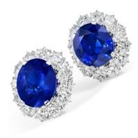 Sapphire-and-diamond earrings by Bulgari