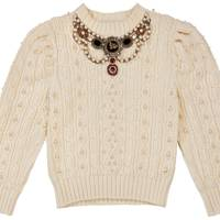 EMBELLISHED CASHMERE & MERINO-WOOL JUMPER, £2,370, BY GUCCI