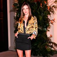 Alessandra Ambrosio at the Alexandre Birman dinner