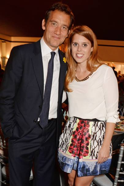 Princess Beatrice and Clive Owen