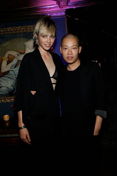 Edie Campbell and Jason Wu