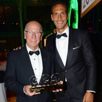 Sir Bobby Charlton and Rio Ferdinand