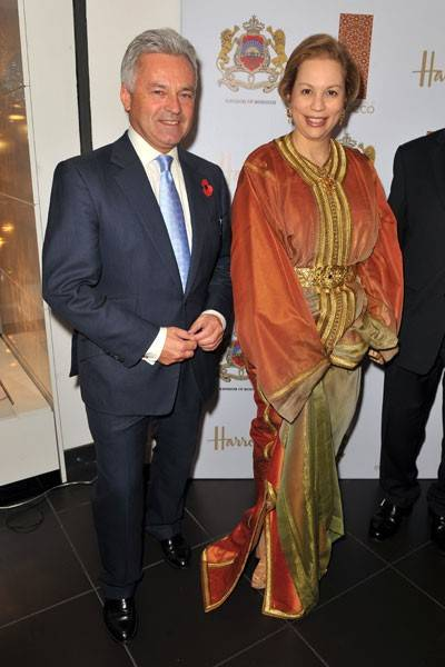 Alan Duncan and Princess Lalla Joumala Alaoui of Morocco