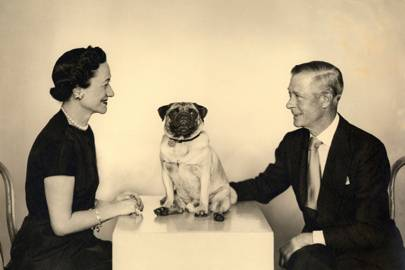 The Duke and Duchess of Windsor with Dizzy, by Dorothy Wilding, 1955