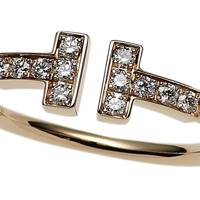 Rose-gold & diamond ring, £1,175, by Tiffany