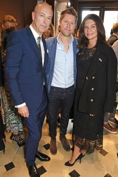 Dylan Jones, Christopher Bailey and Dame Natalie Massenet