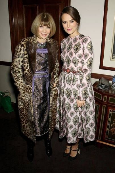 Anna Wintour and Keira Knightley