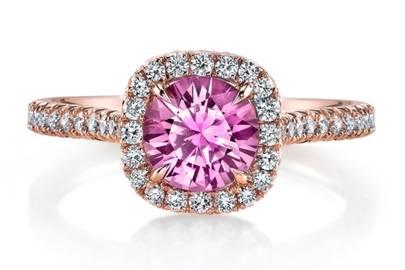 Pink Saphire Diamond Ring by London DE