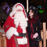 Father Christmas and Helena Bonham Carter