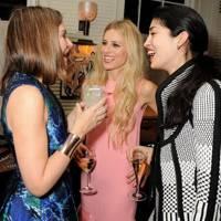 Natalie Massenet, Laura Bailey and Caroline Issa