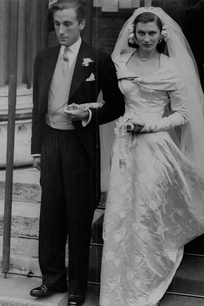 The Duke of Beaufort and Lady Caroline Jane Thynne, 1950