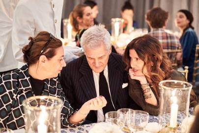 India Mahdavi, Alain Elkann and Osanna Visconti Di Mondrone