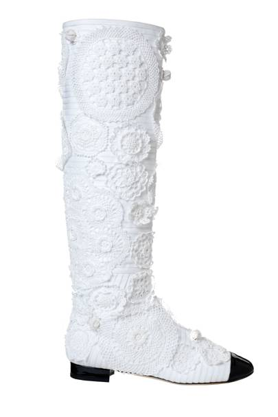 Crochet boots, £1,425, by Chanel