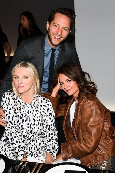 Laura Brown, Derek Blasberg and Katie Holmes