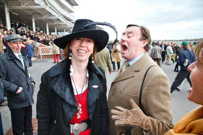Harriet Smyly and Nicky Henderson