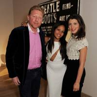 Boris Becker, Rachael Barrett and Svetlana Marich
