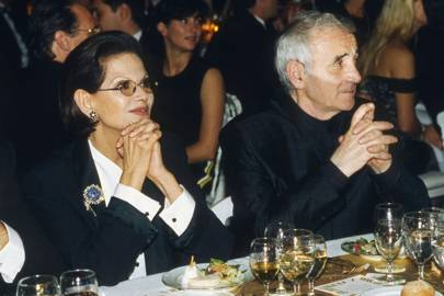Claudia Cardinale and Charles Aznavour