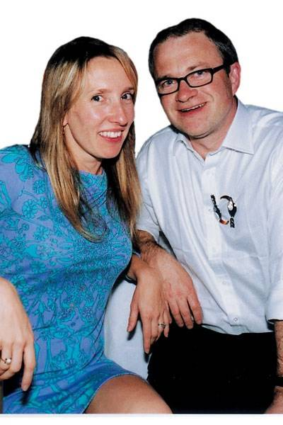 Mrs Jay Jopling and Harry Enfield