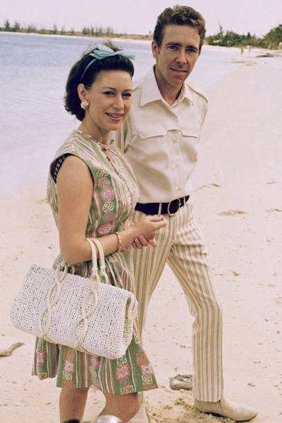 1967: With Lord Snowdon in Nassau
