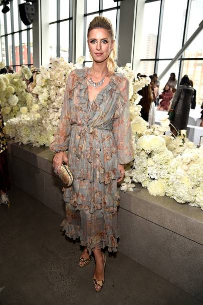 Nicky Hilton-Rothschild at the Zimmermann show
