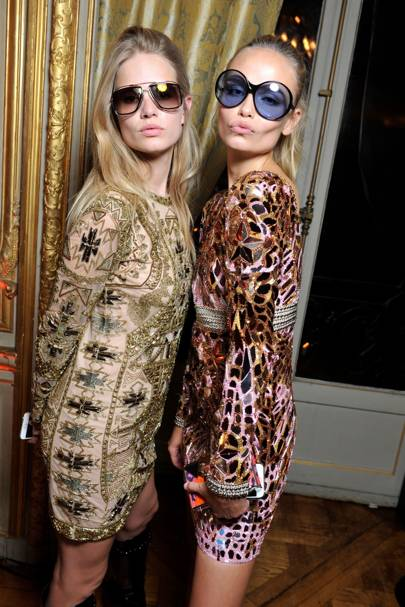 Anna Ewers and Natasha Poly