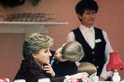 The Princess of Wales and Prince William, 1990