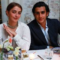 Claire Deroo and Maharaja Padmanabh Singh of Jaipur