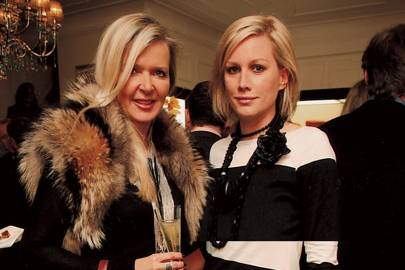 Amanda Wakeley and Alice Evans