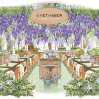 The Nyetimber Secret Garden at the Rosewood London