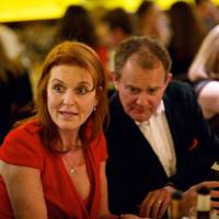 Sarah, Duchess of York and Hugh Bonneville