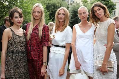 Caroline Sieber, Virginie Courtin Clarins, Luisa Orsini, Claire Courtin Clarins and Antonine Peduzzi