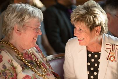 Pauline Charlton and Lord-Lieutenant Sue Snowdon
