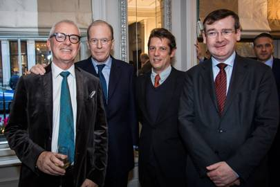 Peter Sheppard, Sir Mark Allen, Alexander DesForges and Francis Campbell