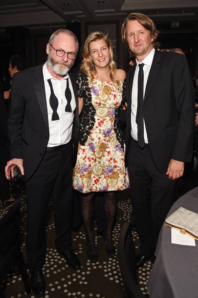 Liam Cunningham, Caroline Rupert and Tom Hooper