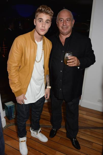 Justin Bieber and Philip Green