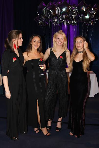 Emma Young, Seren Phillips, Louisa Hunter and Lily Mainwaring