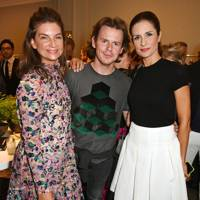 Natalie Massenet, Livia Firth and Christopher Kane